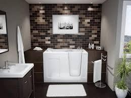 sophisticated alcove bathtub square porcelain console sink black