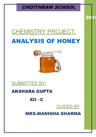 project for class 12 on analysis of honey