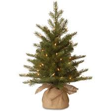 feel real nordic spruce small tree in burlap with lights buy now