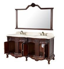 Wall Mirrors For Bathroom Vanities by Bathroom Antique Wooden Bathroom Vanity Set With Cabinet And Twin