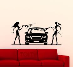 online get cheap decor shop aliexpress com alibaba group car wash wall sticker sexy girls car washing logo auto service vinyl decal home interior decoration shop art mural