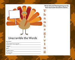 free downloadable thanksgiving activity placemat thrifty jinxy