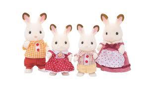 chocolate rabbits sylvanian families chocolate rabbit family kids george at asda