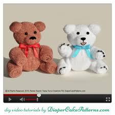 how to make a washcloth teddy bear video tutorial bonus polar
