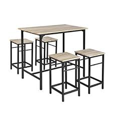 table haute de cuisine avec tabouret sobuy ogt11 n set de 1 table 4 tabourets ensemble table de bar