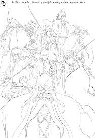 bleach captains 494 lineart by gran jefe on deviantart