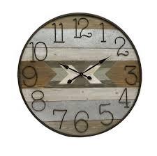 home design store nz arrows wood wall clock 100cm the design store nz