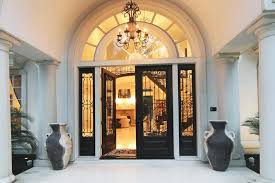 Exterior Doors Houston Tx Dramatic Front Entry Doors W Rod Iron Window Treatments Real
