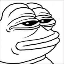 Smug Meme Face - pepe the frog the early years