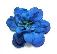 delphinium flowers royal blue delphinium flower hair clip