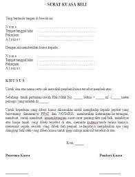 Format Surat Kuasa Jual Beli Rumah | contoh dan format surat kuasa jual beli tanah kebun dan sawah file