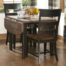 solid wood drop leaf table and chairs unfinished drop leaf table varnished brown solid wood dining table