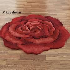 flower area rugs raelyn red rose flower shaped rugs
