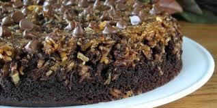 upside down chocolate chip cake recipe genius kitchen