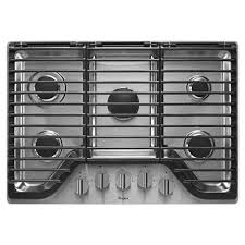 Cooktops Gas 30 Inch Whirlpool 30 In Gas Cooktop In Stainless Steel With 5 Burners