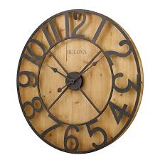 Large Wall Clocks by Bulova Silhouette Wall Clock Walmart Com