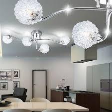 luminaire plafond chambre lustre suspension luminaire plafond éclairage chrome salle de séjour