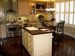 Light Wood Kitchens Kitchen With White Cabinets And Dark Wood Floors Home Design Ideas
