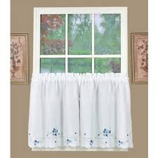 White And Blue Curtains Buy Blue Kitchen Curtains From Bed Bath Beyond