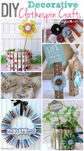 diy decorative clothespin crafts ribbons u0026 glue