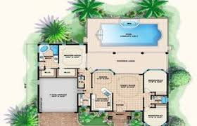 pool home plans house plan mediterranean style plans with pool modern homes design