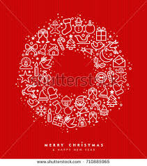 merry christmas happy greeting stock vector 710885965