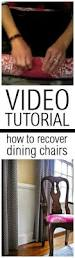Recovering Dining Room Chair Cushions Best 25 Recover Dining Chairs Ideas On Pinterest Recover Chairs