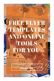 find out free flyer templates and useful online tools for