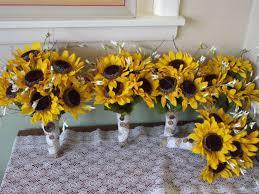sunflower wedding bouquet sunflower bridal bouquet bridesmaids and groomsmen silk