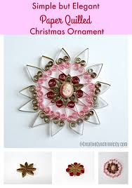 simple but paper quilled ornament