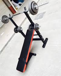 home fitness equipment weightlifting barbell bed bench press rack