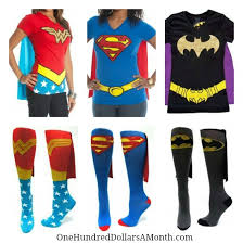 Halloween Costumes Supergirl Woman Super Batman Shirts Socks Women