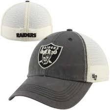 47 brand oakland raiders caprock flex charcoal hat