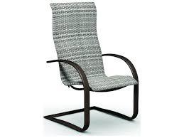 homecrest sling aluminum spring base dining chair 44800