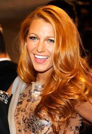 golden apricot hair color blake lively s haircolorist dishes on her hot red hue american salon