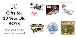 gift guide for 13 year boys blissful