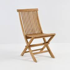 Outdoor Dining Area With No Chairs This Teak Folding Chair Is For Casual Outdoor Dining A