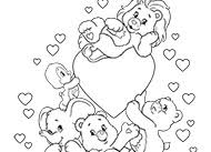 happy care bears coloring ag kidzone