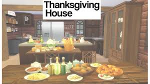 sims 4 thanksgiving house