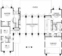 Scaled Floor Plan Modern Style House Plan 3 Beds 2 5 Baths 2557 Sq Ft Plan 48 476