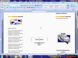 docs brochure template brochure template printing tutorial