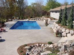 Backyard Pool Landscaping by Pool Landscapes Curbside Landscape