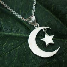 silver star necklace pendant images Half moon and star necklace pendant in sterling silver yhtanaff jpg