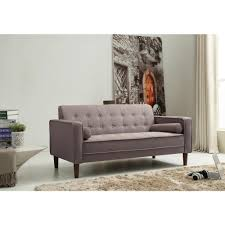 Grey Linen Sofa by Nathaniel Home Nolan Tufted Grey Linen Sofa Apartment