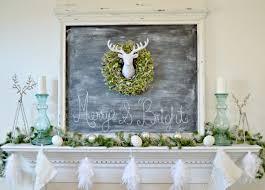 christmas mantel white and silver deer themed christmas mantel 4 real