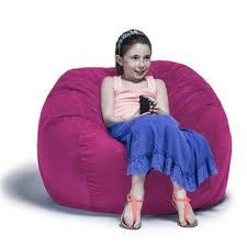 pink bean bag chairs you u0027ll love wayfair