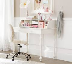 interesting ideas for comfortable desks with white wooden theme