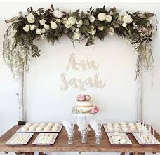 Wedding Arches Made Twigs Birch Wedding Arch With White Flowers And Foliage On Top Wedding