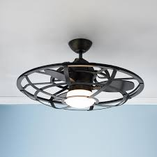 Small Ceiling Fan Light Bulbs by Industrial Cage Ceiling Fan Industrial Style Ceiling Fan And