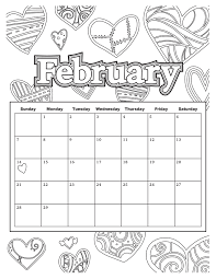download coloring pages february coloring pages february